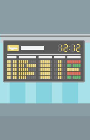 Background of schedule board vector flat design illustration. Vertical layout. Illusztráció