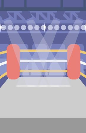 Hintergrund der Boxring Vektor flache Design-Illustration. Vertikal-Layout.