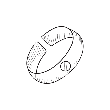 possession: Bracelet sketch icon for web, mobile and infographics. Hand drawn Bracelet icon. Bracelet vector icon. Bracelet icon isolated on white background.