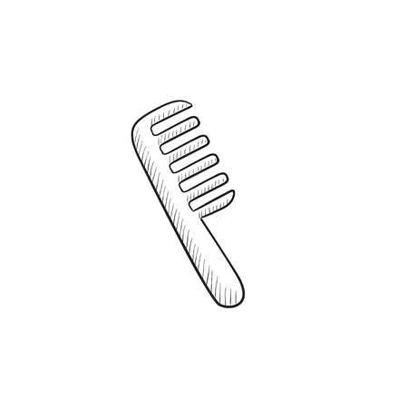 comb: Comb vector sketch icon isolated on background. Hand drawn Comb icon. Comb sketch icon for infographic, website or app.