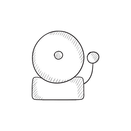 evacuation equipment: Fire alarm vector sketch icon isolated on background. Hand drawn Fire alarm icon. Fire alarm sketch icon for infographic, website or app.
