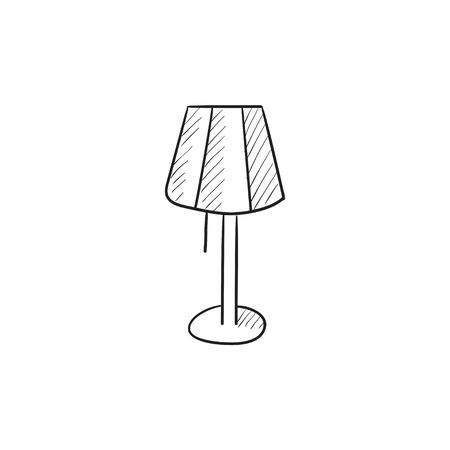 Stehlampe gezeichnet  Tischlampe Vektor Skizze Symbol Auf Hintergrund Isoliert ...