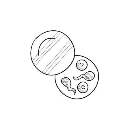 Donorsperma vector schets pictogram op een achtergrond. Hand getrokken Donorsperma icoon. Donorsperma schets pictogram voor infographic, website of app.