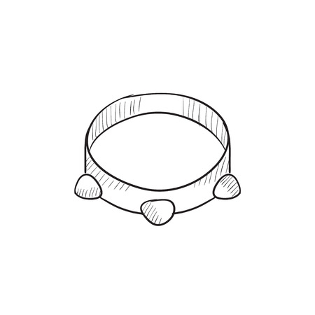 tambourine: Tambourine vector sketch icon isolated on background. Hand drawn Tambourine icon. Tambourine sketch icon for infographic, website or app.