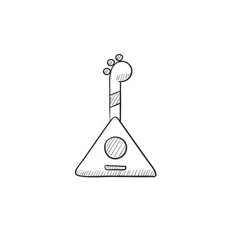 balalaika: Balalaika vector sketch icon isolated on background. Hand drawn Balalaika icon. Balalaika sketch icon for infographic, website or app. Illustration