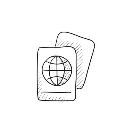 locality: Map vector sketch icon isolated on background. Hand drawn Map icon. Map sketch icon for infographic, website or app.