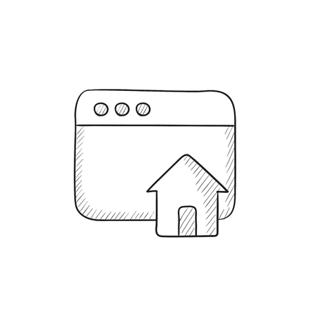 Homepage vector sketch icon isolated on background. Hand drawn Homepage icon. Homepage sketch icon for infographic, website or app. Illustration