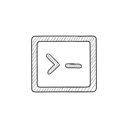 Terminal startup vector sketch icon isolated on background. Hand drawn Terminal startup icon. Terminal startup sketch icon for infographic, website or app.