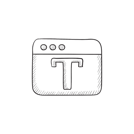 editor: Design editor tool vector sketch icon isolated on background. Hand drawn Design editor tool icon. Design editor tool sketch icon for infographic, website or app. Illustration