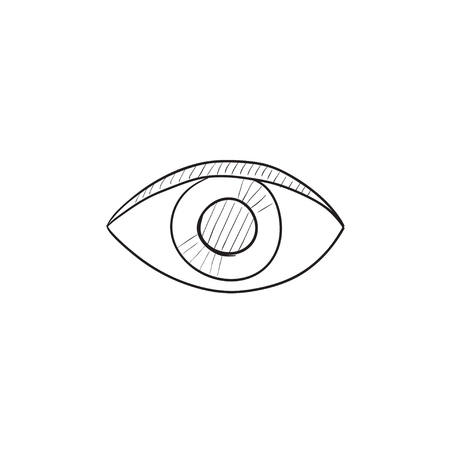 publish: Publish content button vector sketch icon isolated on background. Hand drawn Publish content button icon. Publish content button sketch icon for infographic, website or app.