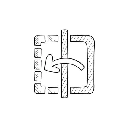 reflection mirror: Mirror reflection vector sketch icon isolated on background. Hand drawn Mirror reflection icon. Mirror reflection sketch icon for infographic, website or app.