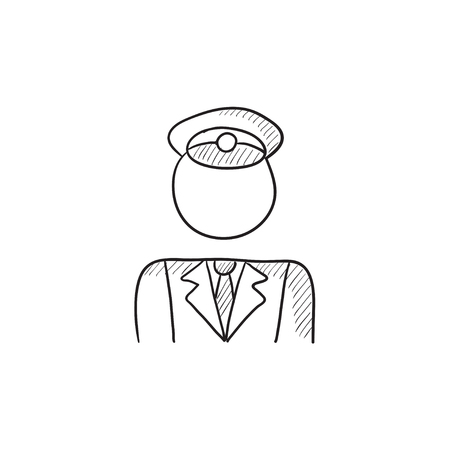 conductor: Conductor vector sketch icon isolated on background. Hand drawn Conductor icon. Conductor sketch icon for infographic, website or app. Illustration