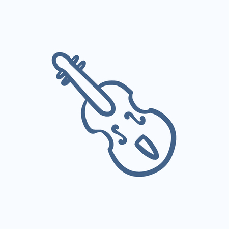 Cello vector sketch icon isolated on background. Hand drawn Cello icon. Cello sketch icon for infographic, website or app.