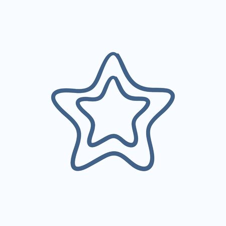 good judgment: Rating star vector sketch icon isolated on background. Hand drawn Rating star icon. Rating star sketch icon for infographic, website or app. Illustration