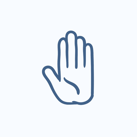 surgical glove: Medical glove vector sketch icon isolated on background. Hand drawn Medical glove icon. Medical glove sketch icon for infographic, website or app.