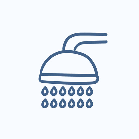 Shower vector sketch icon isolated on background. Hand drawn Shower icon. Shower sketch icon for infographic, website or app. Ilustrace