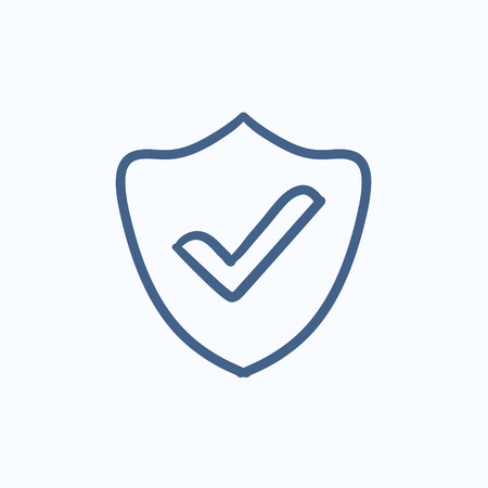 confirmed: Quality is confirmed vector sketch icon isolated on background. Hand drawn Quality is confirmed icon. Quality is confirmed sketch icon for infographic, website or app.