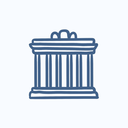 Acropolis of Athens vector sketch icon isolated on background. Hand drawn Acropolis of Athens icon. Acropolis of Athens sketch icon for infographic, website or app. 向量圖像
