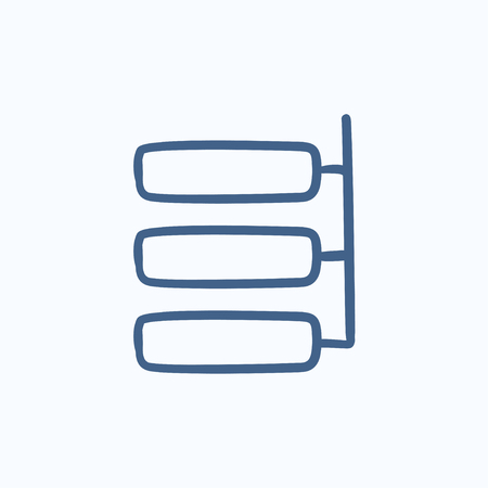 System parts vector sketch icon isolated on background. Hand drawn System parts icon. System parts sketch icon for infographic, website or app. Çizim