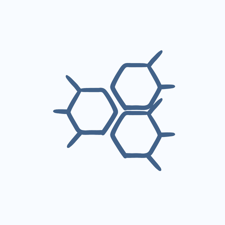 reaction: Chemical formula vector sketch icon isolated on background. Hand drawn Chemical formula icon. Chemical formula sketch icon for infographic, website or app.