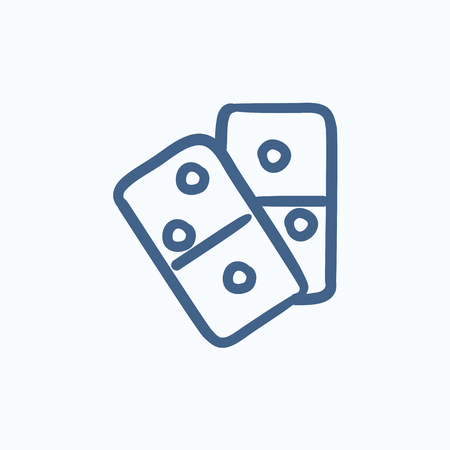 consequence: Domino vector sketch icon isolated on background. Hand drawn Domino icon. Domino sketch icon for infographic, website or app.