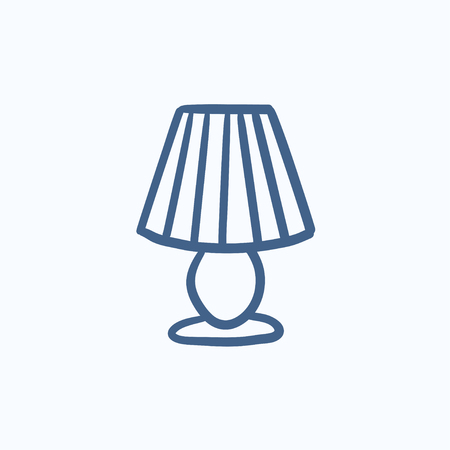 Tischlampe gezeichnet  Table Lamp Vector Sketch Icon Isolated On Background. Hand Drawn ...