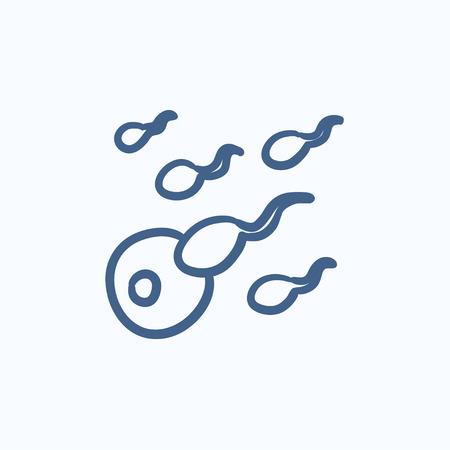 fertilization: Fertilization vector sketch icon isolated on background. Hand drawn Fertilization icon. Fertilization sketch icon for infographic, website or app.