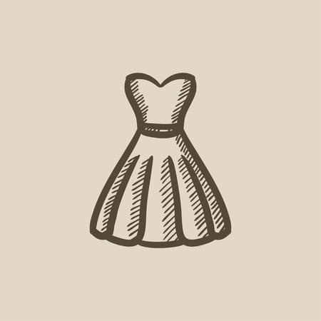 Dibujo Icono De Vestido De Novia Para Web Móvil Y La
