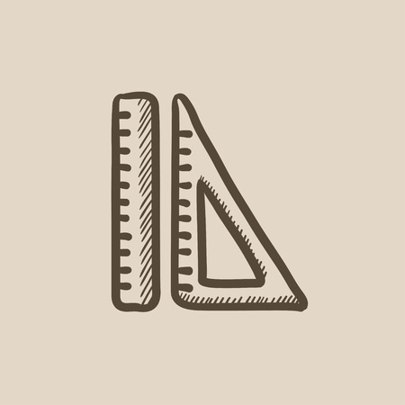 rulers: Rulers vector sketch icon isolated on background. Hand drawn Rulers icon. Rulers sketch icon for infographic, website or app. Illustration