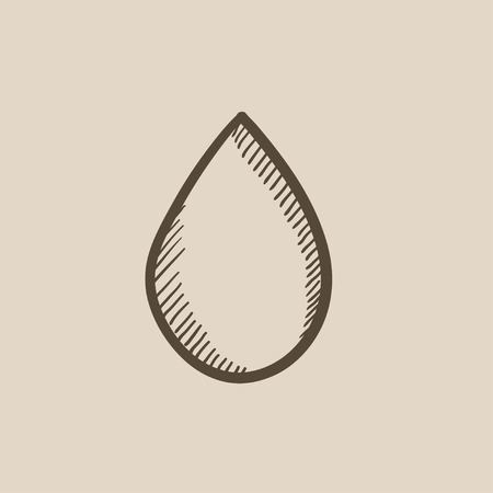 naphtha: Water drop vector sketch icon isolated on background. Hand drawn Water drop icon. Water drop sketch icon for infographic, website or app.