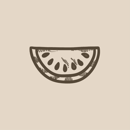 melon: Melon  vector sketch icon isolated on background. Hand drawn Melon  icon. Melon  sketch icon for infographic, website or app.