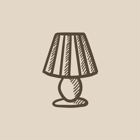 Stehlampe gezeichnet  Stehlampe Vektor Skizze Symbol Isoliert Auf Den Hintergrund. Hand ...