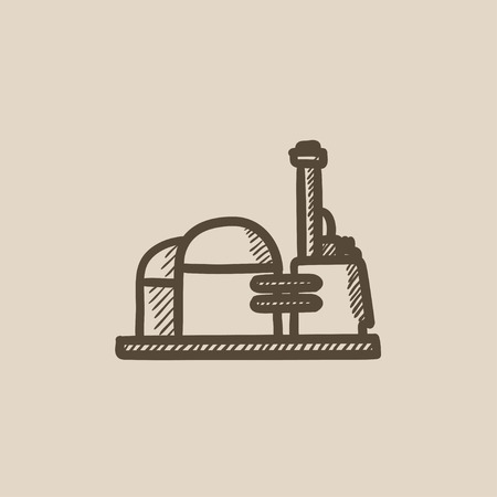 Factory vector sketch icon isolated on background. Hand drawn Factory icon. Factory sketch icon for infographic, website or app. Reklamní fotografie - 59276997
