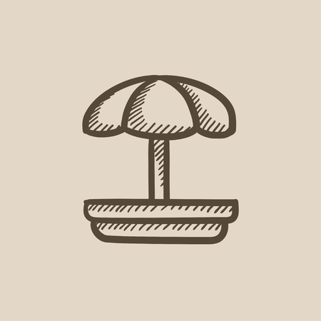 schoolyard: Playground vector sketch icon isolated on background. Hand drawn Playground icon. Playground sketch icon for infographic, website or app.