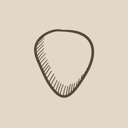guitar pick: Guitar pick vector sketch icon isolated on background. Hand drawn Guitar pick icon. Guitar pick sketch icon for infographic, website or app.