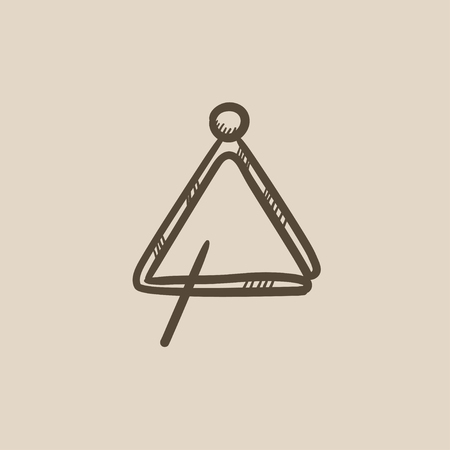 Triangle vector sketch icon isolated on background. Hand drawn Triangle icon. Triangle sketch icon for infographic, website or app. 矢量图像