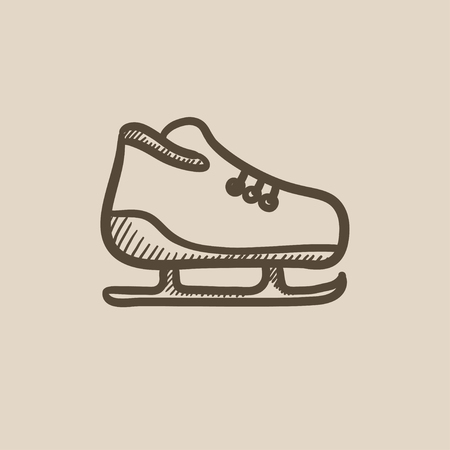 Skate vector sketch icon isolated on background. Hand drawn Skate icon. Skate sketch icon for infographic, website or app. Фото со стока - 59310890
