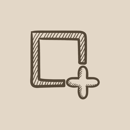 Add file vector sketch icon isolated on background. Hand drawn Add file icon. Add file sketch icon for infographic, website or app. 向量圖像