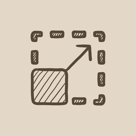 scalability: Scalability vector sketch icon isolated on background. Hand drawn Scalability icon. Scalability sketch icon for infographic, website or app.