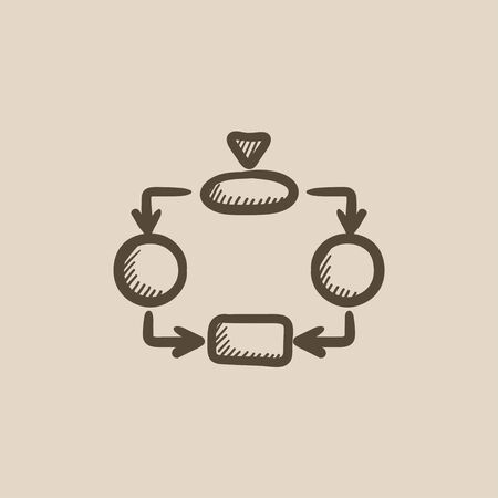 System parts vector sketch icon isolated on background. Hand drawn System parts icon. System parts sketch icon for infographic, website or app. Illusztráció
