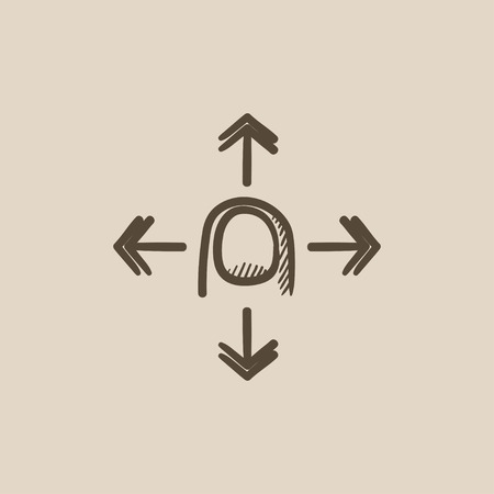 hand touch: Move touch screen gesture vector sketch icon isolated on background. Hand drawn Move touch screen gesture icon. Move touch screen gesture sketch icon for infographic, website or app. Illustration