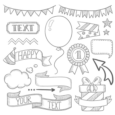 Set of vintage labels ribbons frames banners and elements set of vintage labels ribbons frames banners and elements for party or birthday filmwisefo