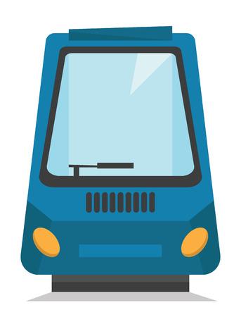 現代の高速鉄道ベクトル フラット デザイン イラスト白い背景で隔離の前面または背面ビュー。