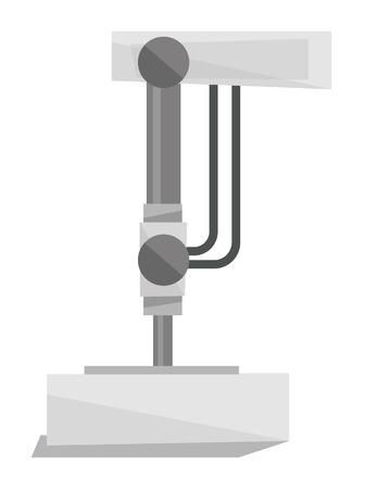 machinery machine: Industrial press machine vector flat design illustration isolated on white background.