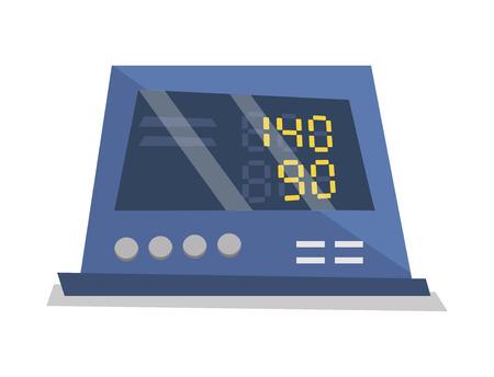 physical pressure: Medical digital tonometervector flat design illustration isolated on white background.
