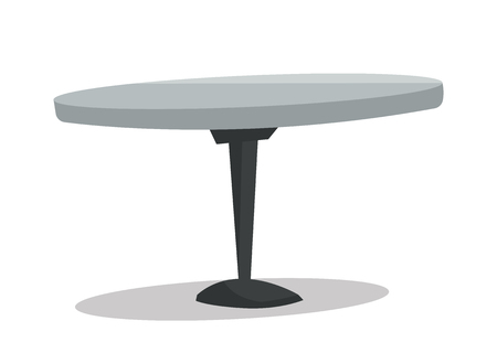 metal legs: Round bar table vector flat design illustration isolated on white background.