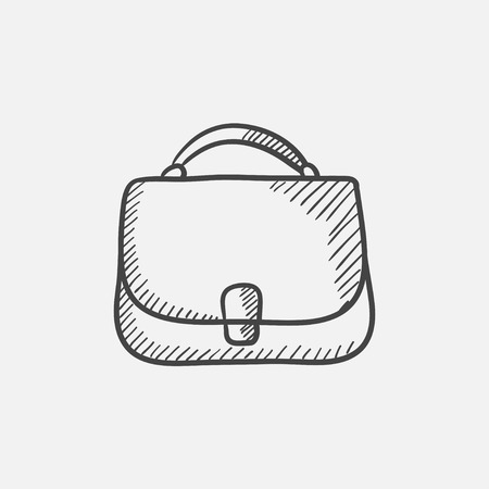 Female handbag sketch icon for web, mobile and infographics. Hand drawn vector isolated icon. 矢量图像
