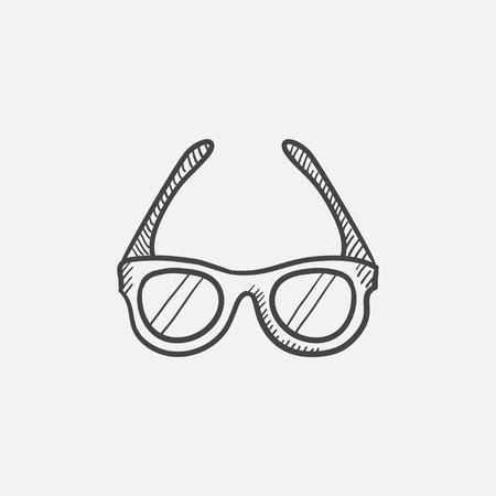 Glasses sketch icon for web, mobile and infographics. Hand drawn vector isolated icon.