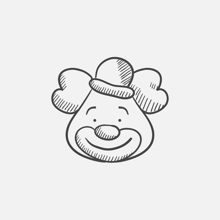 Clown sketch icon for web, mobile and infographics. Hand drawn vector isolated icon. Illusztráció