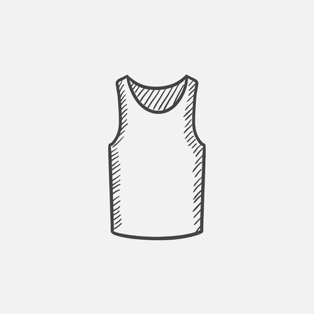 singlet: Male singlet sketch icon for web, mobile and infographics. Hand drawn vector isolated icon. Illustration